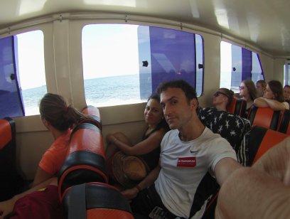 """""""Fast Boat"""" from Padangbai to G.Trawangan // Ferry veloz de Padangbai a Trawangan."""
