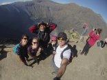 Made it to the top. // En la cima.