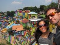 """Kampung Warna-Warni: """"Colorful village"""" // Pueblo colorido."""