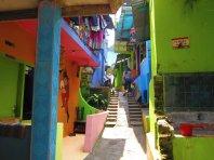 In the favela. // En la favela.