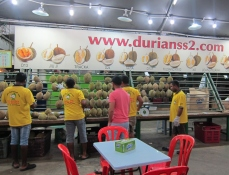 And then... the Durian moment. // Y luego de cenar... a por los Durianes...
