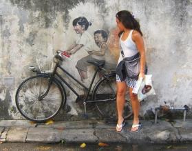 Street art in Penang. // Arte callejero en Penang.