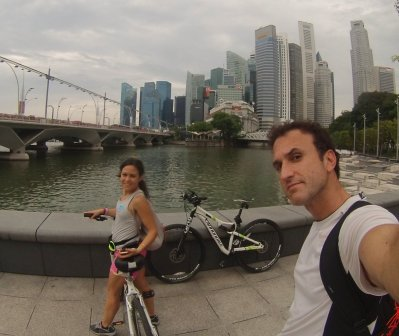 Proof that we in fact biked. // Prueba de que en efecto bicicleteamos.