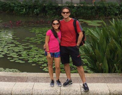 In the Botanical Gardens. // En los Jardines Botánicos.