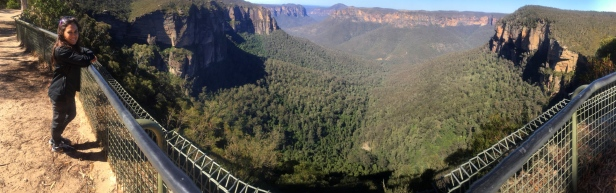 Panoramic view of the Blue Mountains. // Una panorámica de las Montañas Azules.