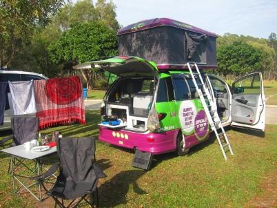 Full-blown camping mode. // Modo camping en todo su esplendor.