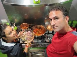 Peruvian cuisine to thank our host. // Ceviche y Lomo Saltado vegetarionaos, para agradecer a la anfitriona.