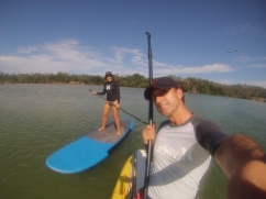 Stand-up paddle...this time with a paddle. // Esta vez si la oficial, con todo y remo.