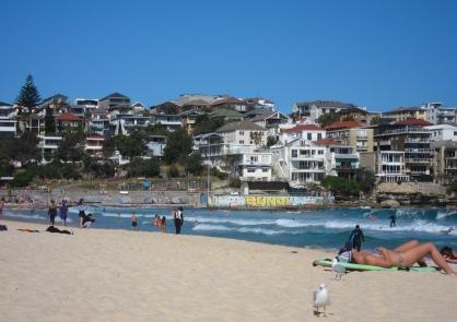 Famous Bondi Beach. // La famosa playa Bondi.