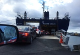 Ferry to the South Island. // Ferry a la Isla del Sur.