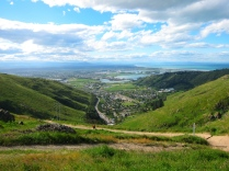 Christchurch from the distance. // Christchurch desde las alturas.