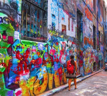 Street art all over Melbourne. // Arte callejero por todas partes en Melbourne.