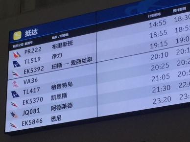 Airport board, no comments. // Avisos en el aeropuerto... sin comentarios.