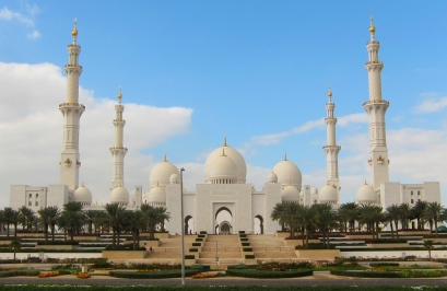 The Great Sheikh Zayed Mosque. Impressive. // La impresionante gran Mezquita del Jeque Zayed.