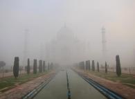 The next morning, after the fog started clearing up. // Al día siguiente, esperando que la niebla aclare.