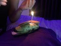 My birthday cake, in Agra. // Mi torta de cumpleaños, en Agra.