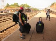 Ready to leave Goa. // Listos para dejar Goa :(.