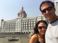 Iconic hotel in Mumbai. // El hotel más famoso en Mumbai.