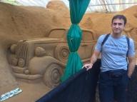 Sand sculpture museum (maintenance must be quite difficult ... or did they use cement instead?) . // Museo de esculturas de arena... debe ser medio complicado de mantener (o hay gato encerrado).