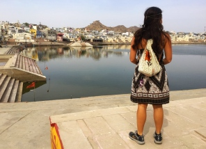And we got to Pushkar!. // Y llegamos a Pushkar.
