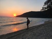 """This beach is called """"sunset beach"""", wonder why. // Y esta es la """"sunset beach"""" ... se preguntarán por qué?"""