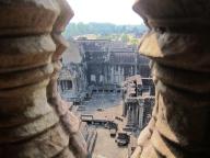 From the top of Angkor Wat. // Desde la parte alta de Angkor Wat.