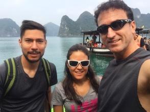 Randomly meeting a fellow Arequipeño. // Coincidimos en el barco con un Arequipeño!