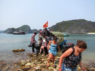 Arriving to Monkey Island. // Llegando a la Isla de los Monos (así se llama).