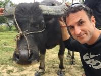 Selfie with a new buddy. // Una selfie con mi nuevo amigo.