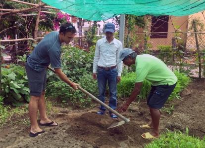 Preparing the land.. // Preparando el terreno.