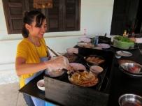 Our cooking-class chef. // Nuestra maestra cocinera para las clases.