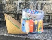 Randomly seen ...someone is really prepared. // ... por ahí vi esto...alguien muy bien preparado para la playa.