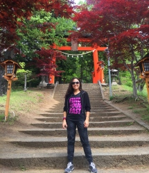 "And then the famous ""torii"" gates. // Y luego, los famosos arcos ""torii"""