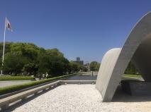 Hiroshima Peace Memorial park. // Parque de homenaje a la paz, en Hiroshima.