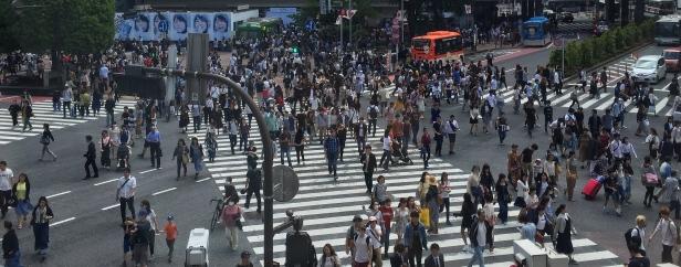 World's busiest crossing, at Shibuya-Tokyo. // El cruce peatonal más transitado, en Shibuya, Tokio.